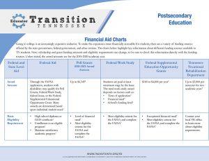 financial aid chart cover